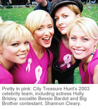 Holly Brisley - Cancer Council Event 2003